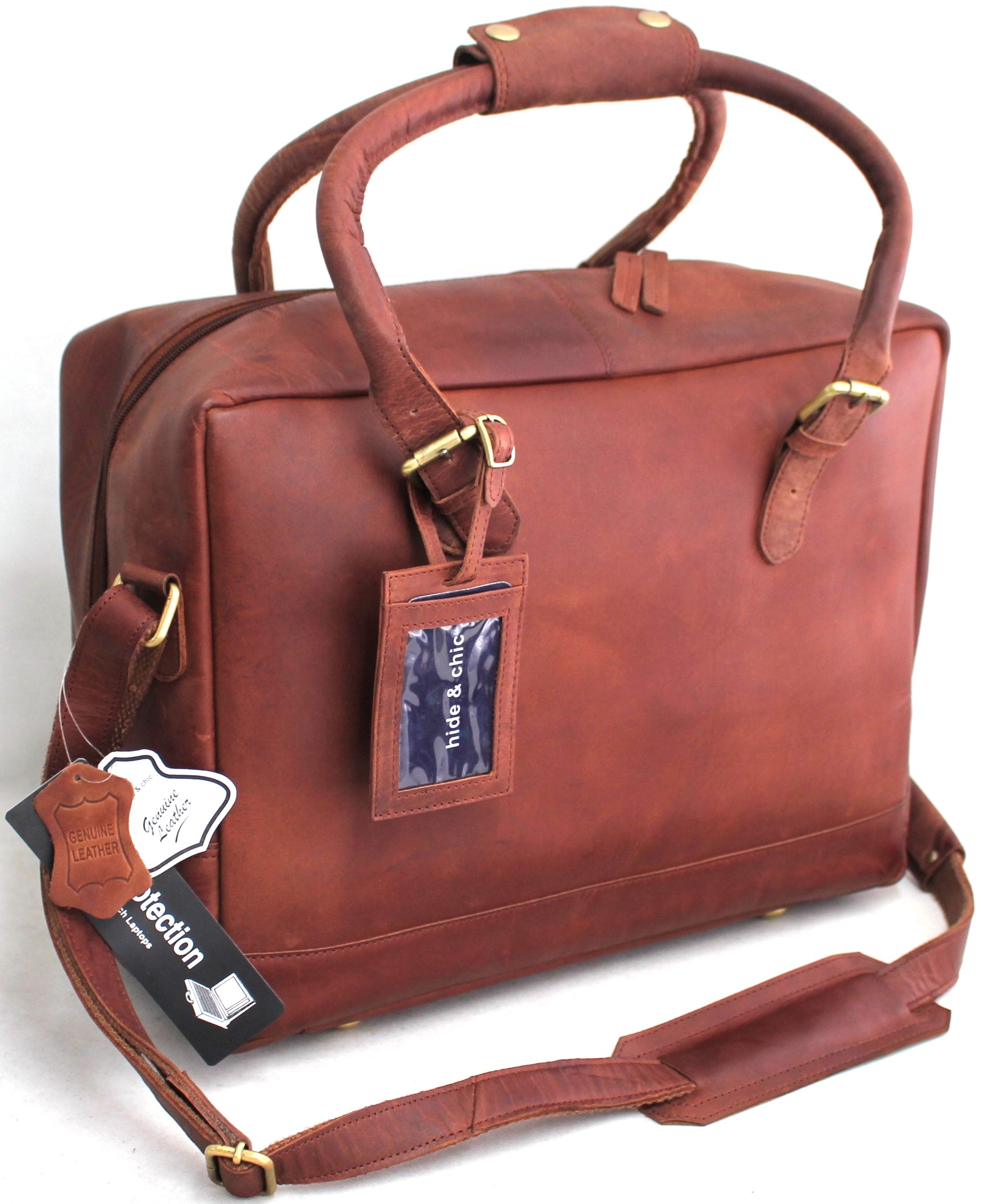 9971609731 Quality Vintage Full Grain Hunter Leather Cabin Size Duffle Bag with  Adjustable Shoulder Strap. Style No  1822.