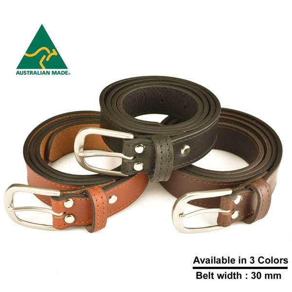 Australian made Genuine Leather Belt 30 mm